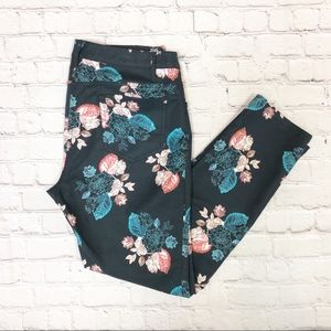 Floral Skinny Pants by Sachin and Babi